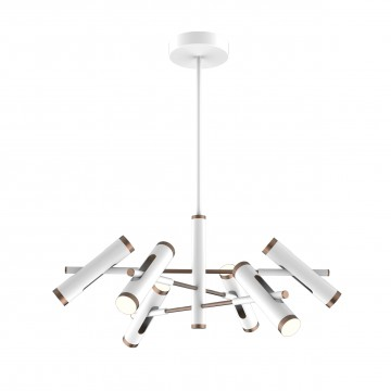 Светодиодная люстра с регулировкой направления света на составной штанге Favourite Duplex 2325-12P, LED 36W 4000K (дневной)