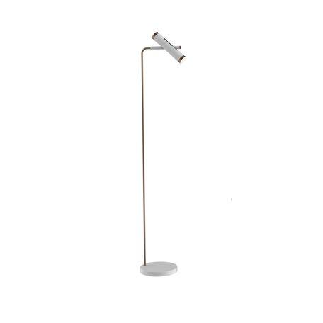 Светодиодный торшер Favourite Duplex 2325-2F, LED 6W 4000K, белый, коричневый, металл