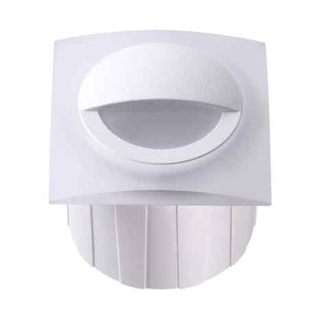 Встраиваемый настенный светодиодный светильник Novotech Scala 358095, IP65, 4000K (дневной), белый, пластик