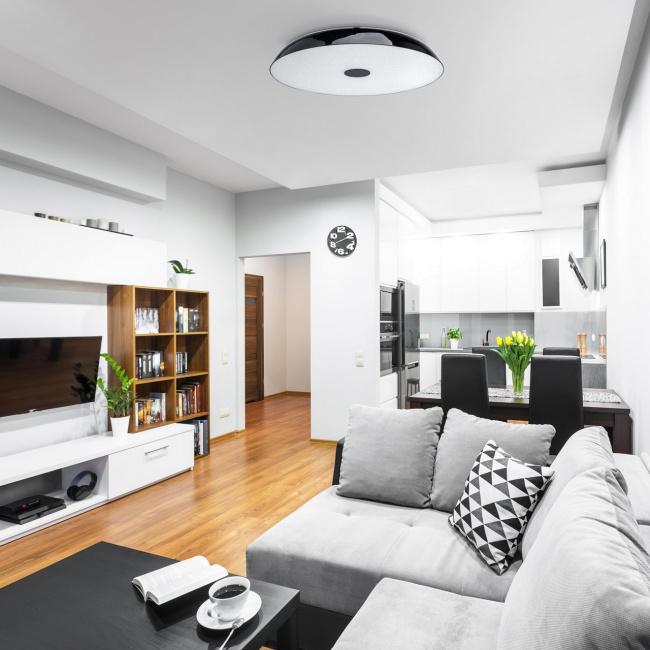 Потолочный светильник MW-Light Канапе 708010609, 9xE27x10W, черный, матовый, металл, стекло - фото 2