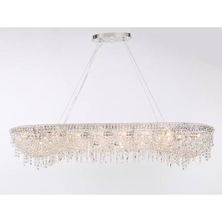 Подвесной светильник Newport 10900 10910+8/S, Chrome Clear crystal L120*45*H17 cm G9 18*60W