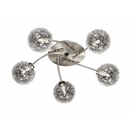 Потолочная люстра Lumion Roxby 2460/5C, 5xG9x40W, никель, алюминий, металл, стекло - миниатюра 1