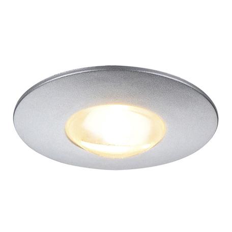 Встраиваемый мебельный светодиодный светильник SLV DEKLED 112242, LED 3000K, серый, металл