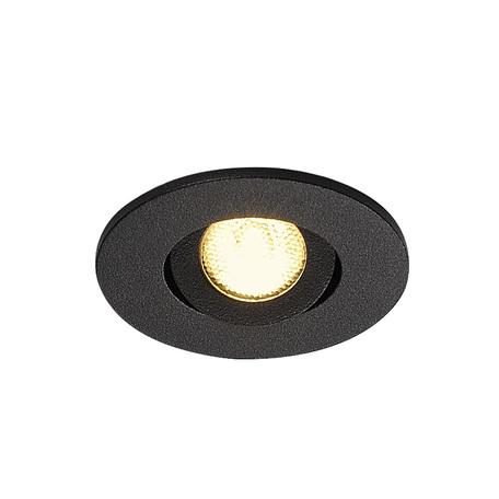 Встраиваемый светодиодный светильник SLV NEW TRIA 40 ROUND CS 113970, IP44, LED 3000K, черный, металл