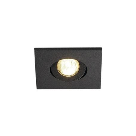 Встраиваемый светодиодный светильник SLV NEW TRIA 40 SQUARE CS 114400, IP44, LED 3000K, черный, металл