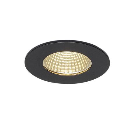 Встраиваемый светодиодный светильник SLV PATTA-I ROUND 114420, IP65, LED 3000K, черный, металл