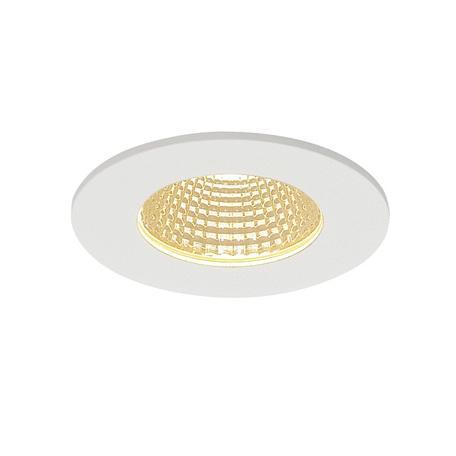 Встраиваемый светодиодный светильник SLV PATTA-I ROUND 114421, IP65, LED 3000K, белый, металл