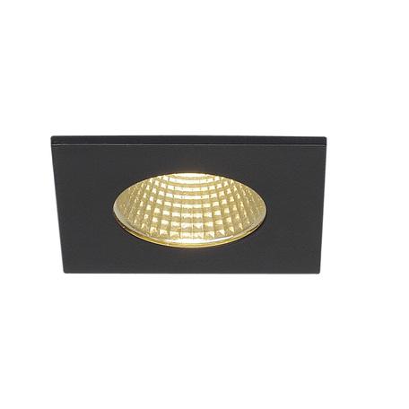 Встраиваемый светодиодный светильник SLV PATTA-I SQUARE 114430, IP65, LED 3000K, черный, металл