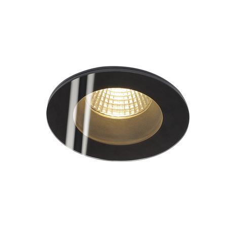 Встраиваемый светодиодный светильник SLV PATTA-F ROUND 114440, IP65, LED 3000K, черный, металл со стеклом