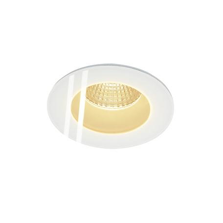 Встраиваемый светодиодный светильник SLV PATTA-F ROUND 114441, IP65, LED 3000K, белый, металл со стеклом