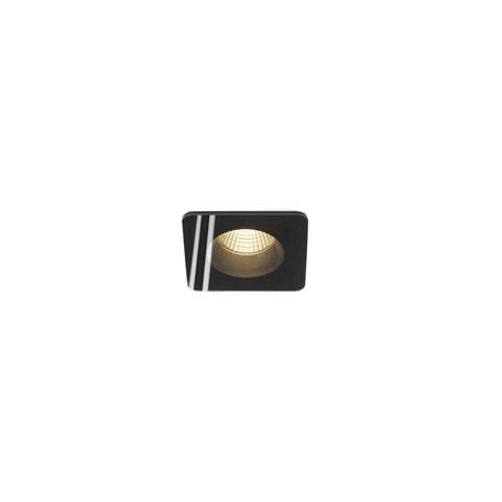 Встраиваемый светодиодный светильник SLV PATTA-F SQUARE 114450, IP65, LED 3000K, черный, металл со стеклом