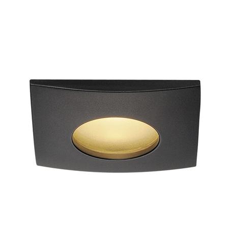 Встраиваемый светодиодный светильник SLV OUT 65 SQUARE 114470, IP65, LED 3000K, черный, металл