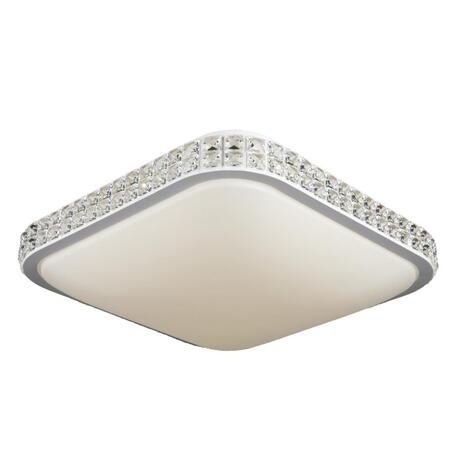 Светодиодный светильник Omnilux Calne OML-43207-42, LED 42W 4200K 2310lm, белый с прозрачным, белый, хрусталь с металлом, пластик
