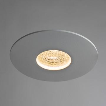 Встраиваемый светодиодный светильник Arte Lamp Instyle Uovo A5438PL-1WH, LED 9W, 3000K (теплый), белый, металл