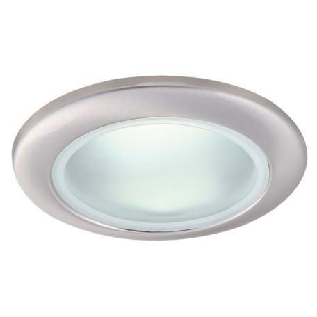 Встраиваемый светильник Arte Lamp Instyle Aqua A2024PL-1SS, IP44, 1xGU10x50W, серебро, металл, стекло
