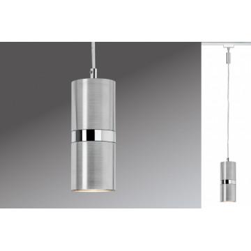 Подвесной светильник для шинной системы Paulmann ProRail Zylino 95158, 1xGZ10x50W, хром, алюминий, металл