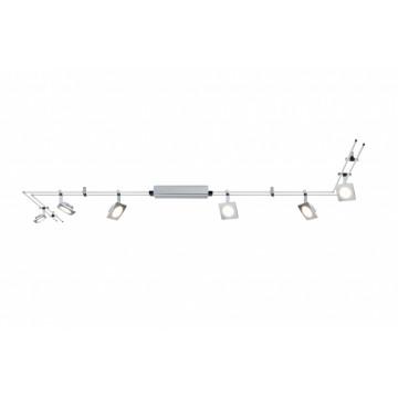 Рельсовая система освещения Paulmann QuadLED 95193, LED 24W, матовый хром, металл