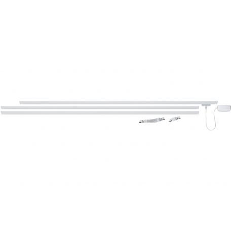 Шинопровод в сборе с питанием и заглушкой Paulmann URail 95017, металл