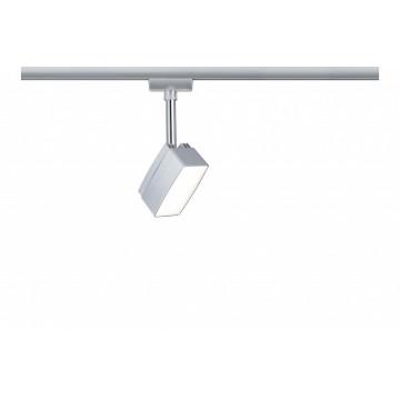 Светодиодный светильник с регулировкой направления света Paulmann URail Spot Pedal 95269, LED, матовый хром