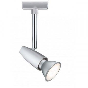Светильник с регулировкой направления света Paulmann URail Spot Barelli 95154, 1xGU10x50W, матовый хром, металл с пластиком