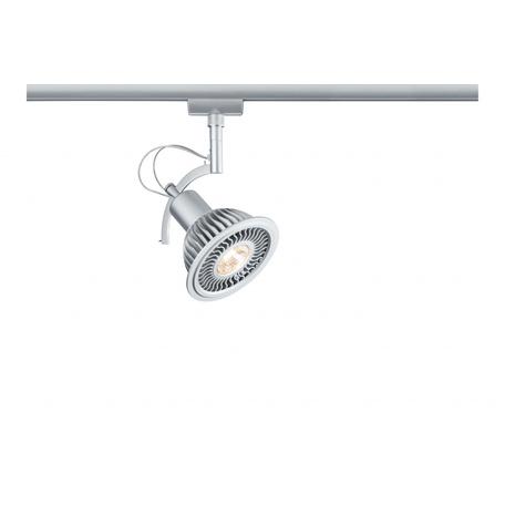Светильник с регулировкой направления света Paulmann URail LED Spot Roncalli II 95280, 1xGU10x11W, матовый хром, металл