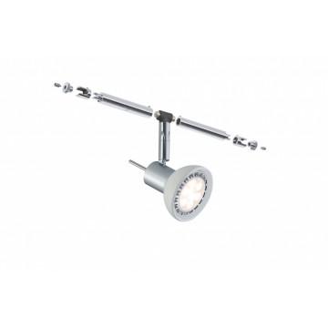 Светильник с регулировкой направления света для тросовой системы Paulmann Spot Sheela 94131, 1xGU5.3x10W, матовый хром, металл, стекло