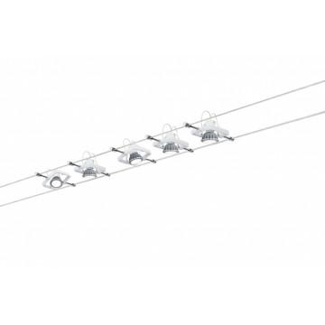 Тросовая система освещения Paulmann Mac II 94134, 5xGU5.3x10W, белый, металл
