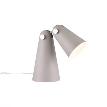 Настольная лампа Maytoni Novara MOD619TL-01GR, 1xE14x40W, серый, металл