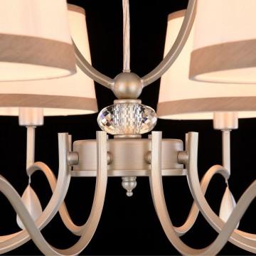 Подвесная люстра Freya Teona FR5538PL-08BR, 8xE14x40W, серебро, белый, металл, текстиль - миниатюра 8