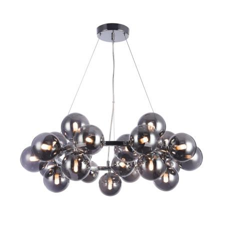 Подвесная люстра Maytoni Dallas MOD548PL-25CH, 25xG9x28W, хром, дымчатый, металл, стекло - миниатюра 2