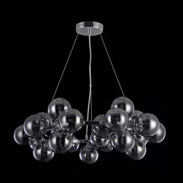 Подвесная люстра Maytoni Dallas MOD548PL-25CH, 25xG9x28W, хром, дымчатый, металл, стекло - миниатюра 3
