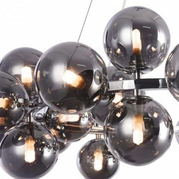 Подвесная люстра Maytoni Dallas MOD548PL-25CH, 25xG9x28W, хром, дымчатый, металл, стекло - миниатюра 5