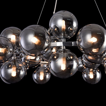 Подвесная люстра Maytoni Dallas MOD548PL-25CH, 25xG9x28W, хром, дымчатый, металл, стекло - миниатюра 6