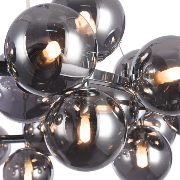 Подвесная люстра Maytoni Dallas MOD548PL-25CH, 25xG9x28W, хром, дымчатый, металл, стекло - миниатюра 7