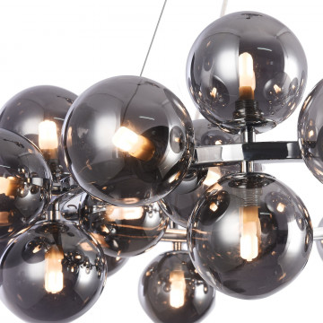 Подвесная люстра Maytoni Dallas MOD548PL-25CH, 25xG9x28W, хром, дымчатый, металл, стекло - миниатюра 8