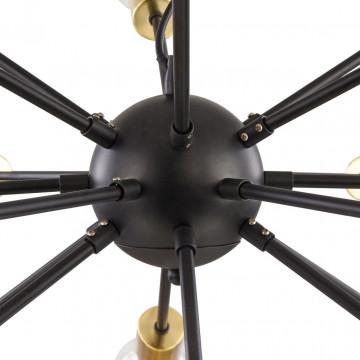 Подвесная люстра Maytoni Jackson T546PL-18B, 18xE27x7W, латунь, черный, металл - миниатюра 10