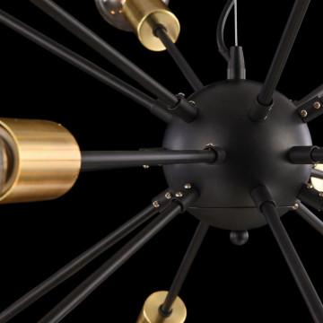 Подвесная люстра Maytoni Jackson T546PL-18B, 18xE27x7W, латунь, черный, металл - миниатюра 8