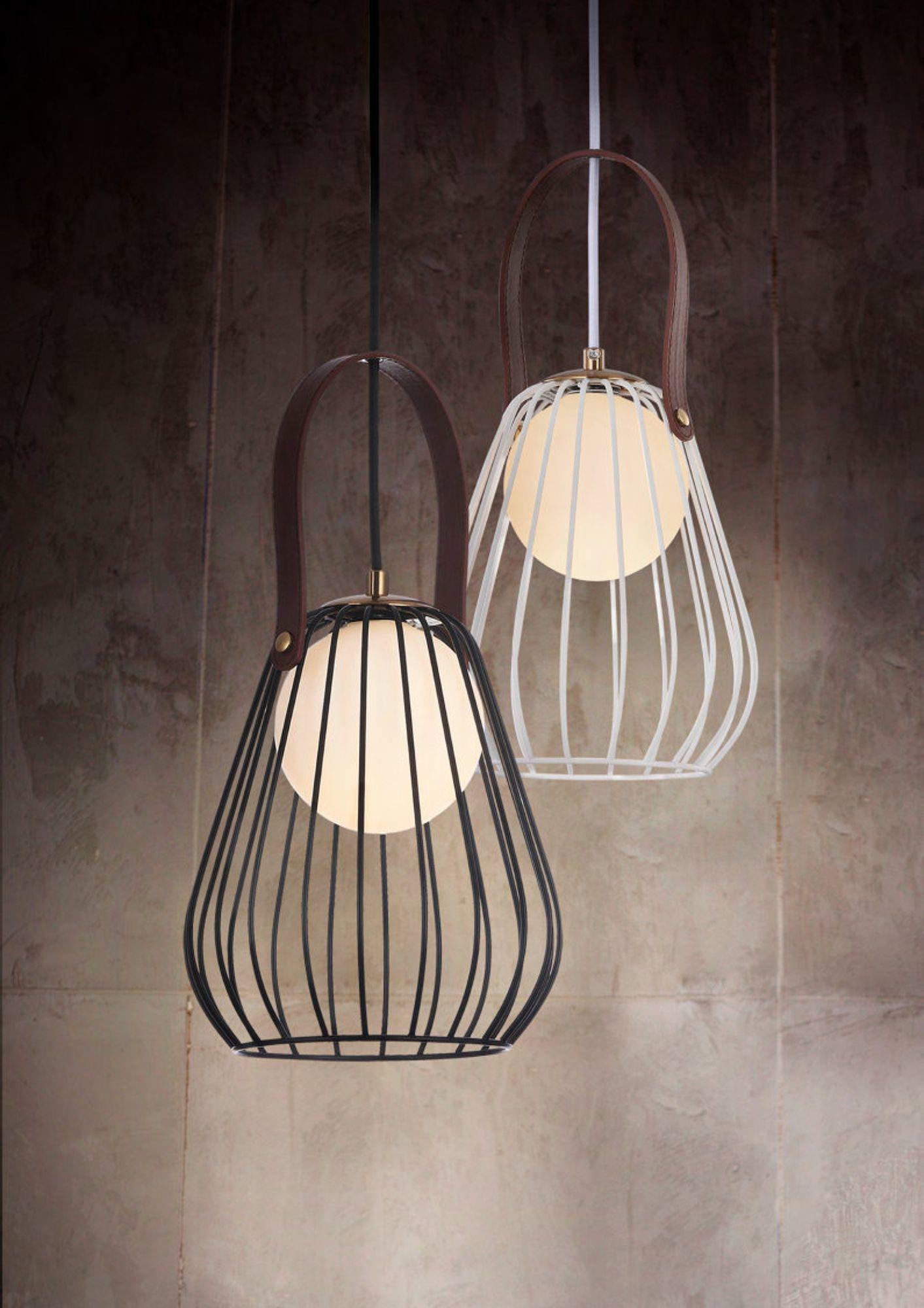 Подвесной светильник Maytoni Indiana MOD544PL-01B, 1xG9x28W, коричневый, матовое золото, черный, белый, кожа/кожзам, металл, стекло - фото 5