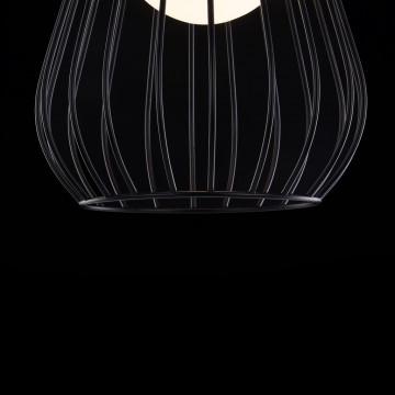 Подвесной светильник Maytoni Indiana MOD544PL-01B, 1xG9x28W, коричневый, матовое золото, черный, белый, кожа/кожзам, металл, стекло - миниатюра 7