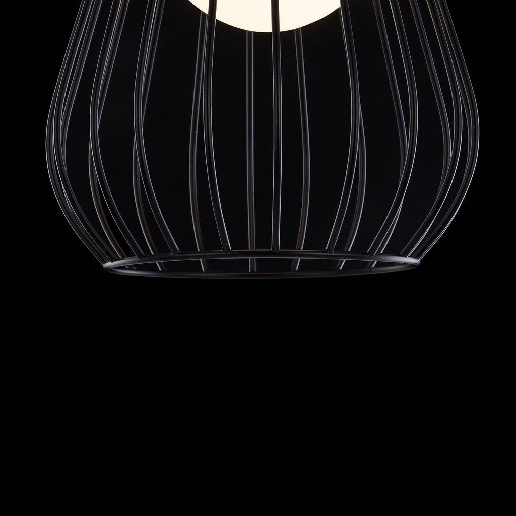 Подвесной светильник Maytoni Indiana MOD544PL-01B, 1xG9x28W, коричневый, матовое золото, черный, белый, кожа/кожзам, металл, стекло - фото 7