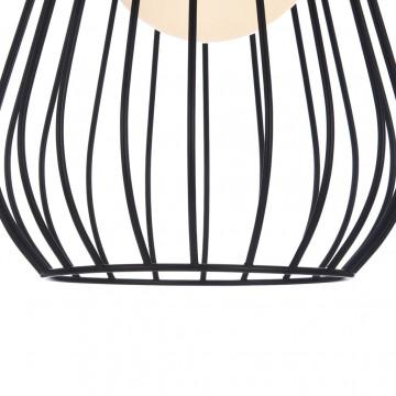 Подвесной светильник Maytoni Indiana MOD544PL-01B, 1xG9x28W, коричневый, матовое золото, черный, белый, кожа/кожзам, металл, стекло - миниатюра 9