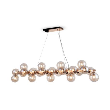 Подвесной светильник Maytoni Dallas MOD547PL-25G, 25xG9x28W, золото, янтарь, металл, стекло