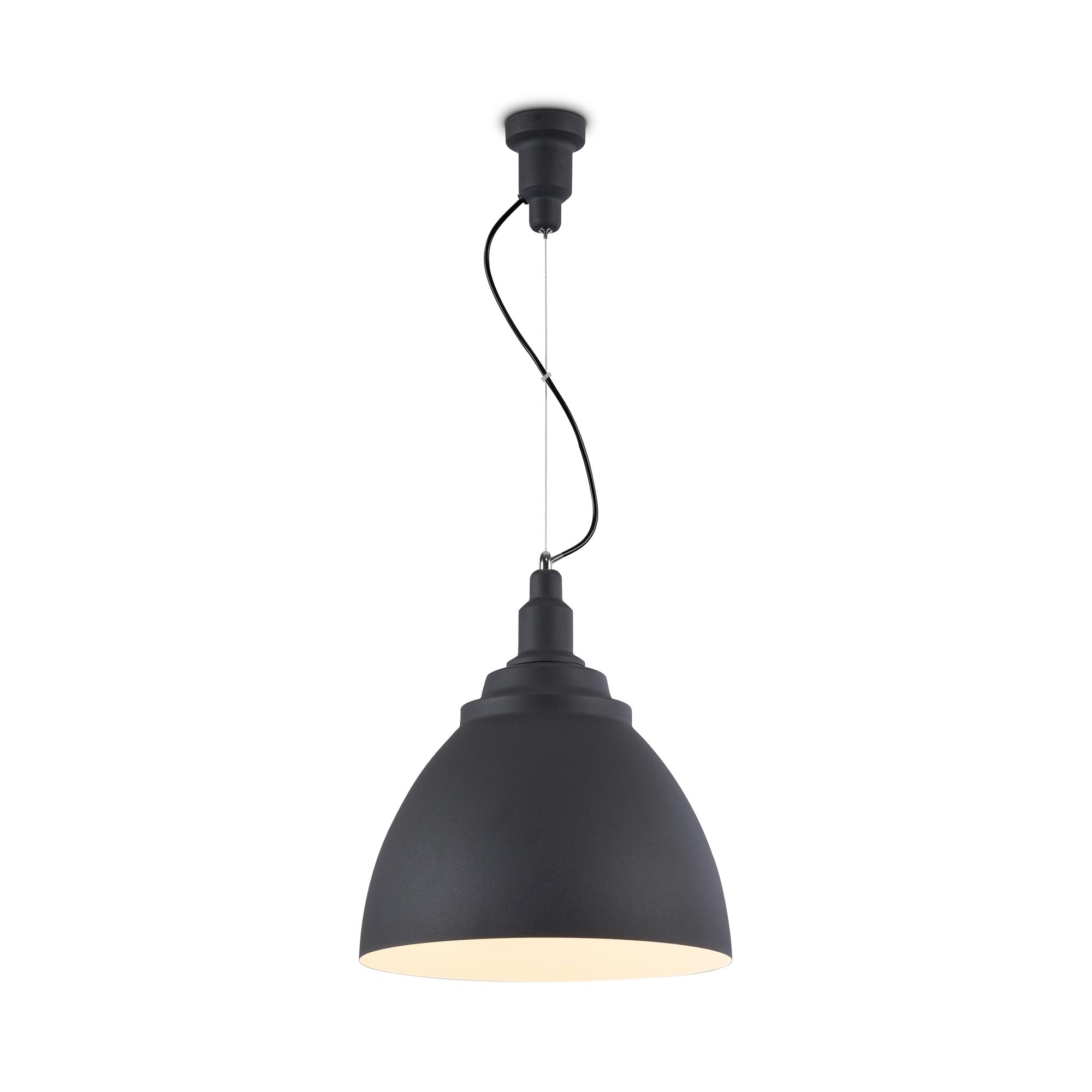 Подвесной светильник Maytoni Bellevue P535PL-01B, 1xE27x60W, черный, металл - фото 1