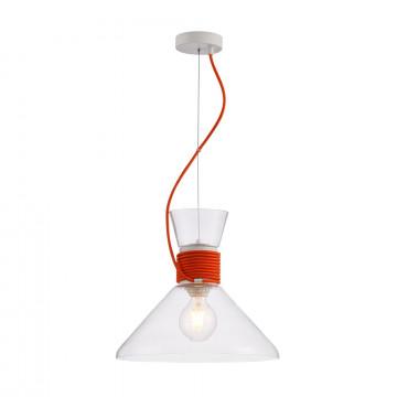 Подвесной светильник Maytoni Modern California P536PL-01R, 1xE27x60W, белый, красный, прозрачный, металл, стекло