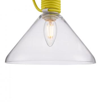 Подвесной светильник Maytoni Modern California P536PL-01YW, 1xE14x40W, белый, желтый, прозрачный, металл, стекло - миниатюра 10
