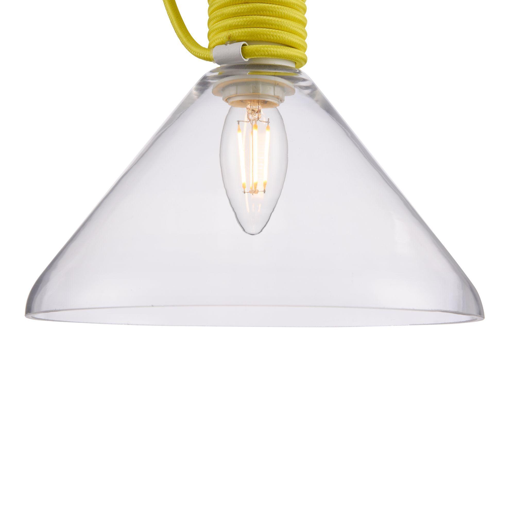 Подвесной светильник Maytoni Modern California P536PL-01YW, 1xE14x40W, белый, желтый, прозрачный, металл, стекло - фото 10