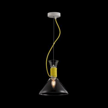 Подвесной светильник Maytoni Modern California P536PL-01YW, 1xE14x40W, белый, желтый, прозрачный, металл, стекло - миниатюра 5