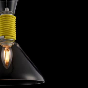 Подвесной светильник Maytoni Modern California P536PL-01YW, 1xE14x40W, белый, желтый, прозрачный, металл, стекло - миниатюра 7
