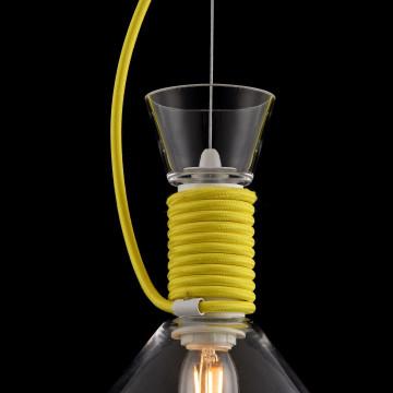 Подвесной светильник Maytoni Modern California P536PL-01YW, 1xE14x40W, белый, желтый, прозрачный, металл, стекло - миниатюра 8