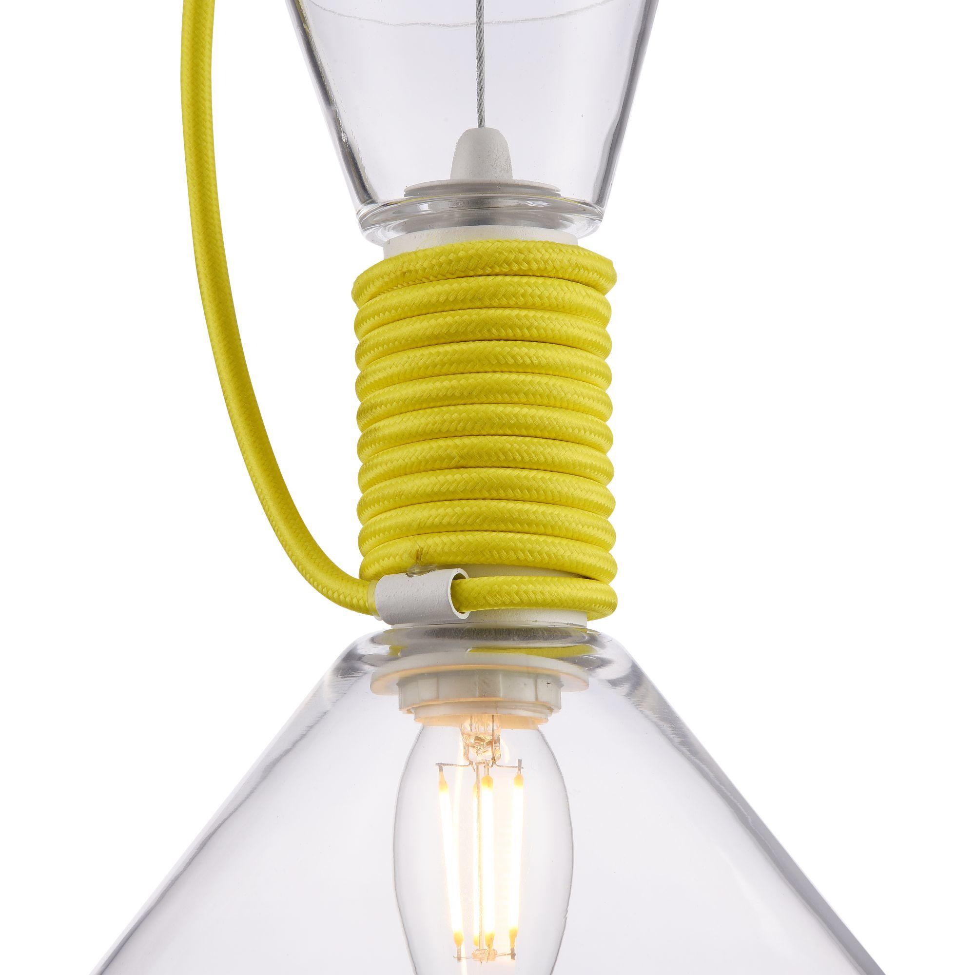 Подвесной светильник Maytoni Modern California P536PL-01YW, 1xE14x40W, белый, желтый, прозрачный, металл, стекло - фото 9